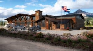 Crested Butte Fire and Emergency Services building rendering from D2C Architects Inc.