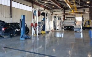 Interior maintenance bays of the Town of Castle Rock's s